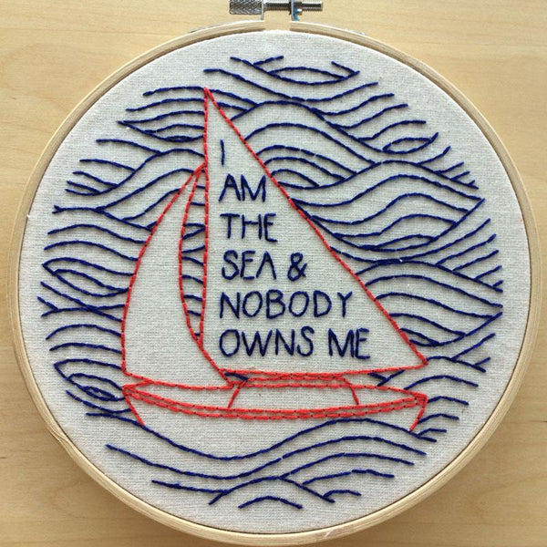 I Am the Sea Hand Embroidery Kit