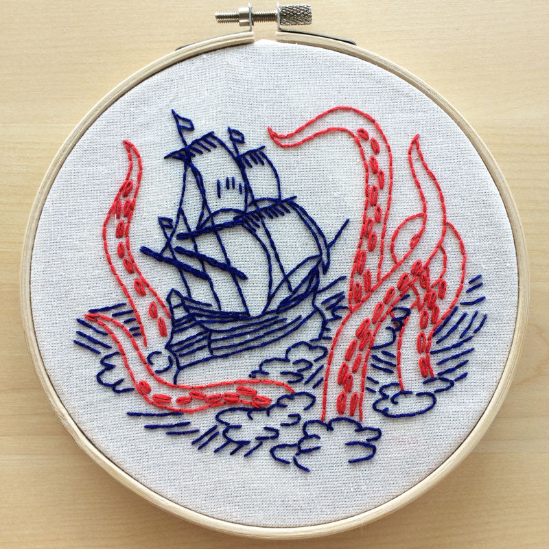 Release the Kraken Hand Embroidery Kit