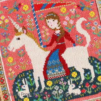 The Lady and the Unicorn Cross Stitch Pattern