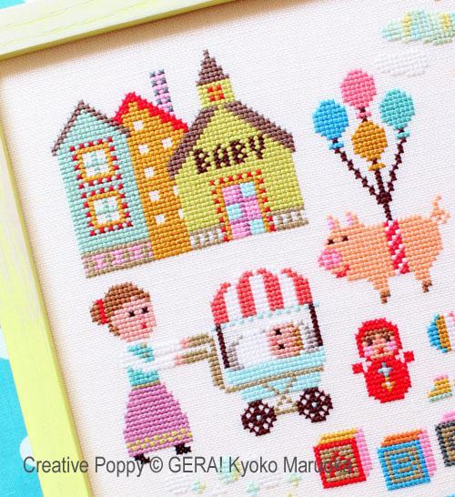 Baby Sampler Cross Stitch Pattern