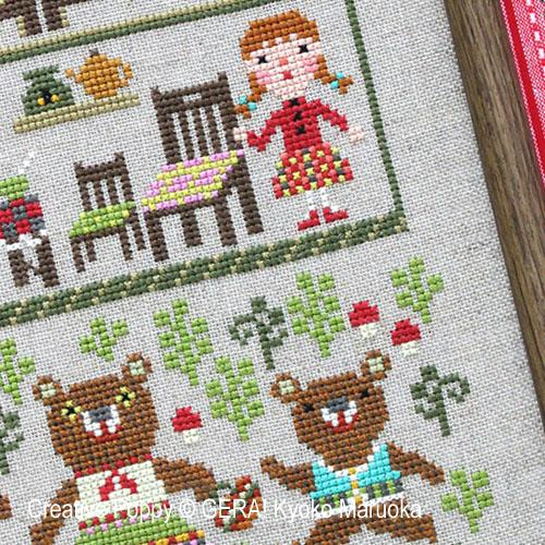 The Three Bears Cross Stitch Pattern