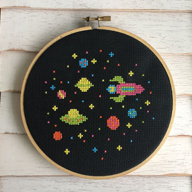 Outer Space Cross Stitch Kit