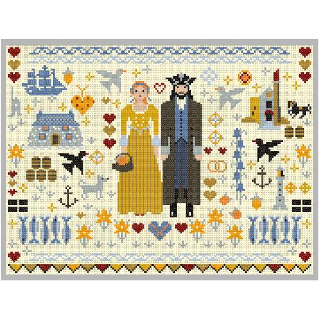 Cornish Folkies Cross Stitch Pattern