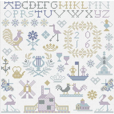 Little Dutch Sampler Cross Stitch Pattern
