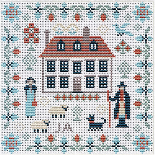 Mini Jane Austen Sampler Cross Stitch Pattern