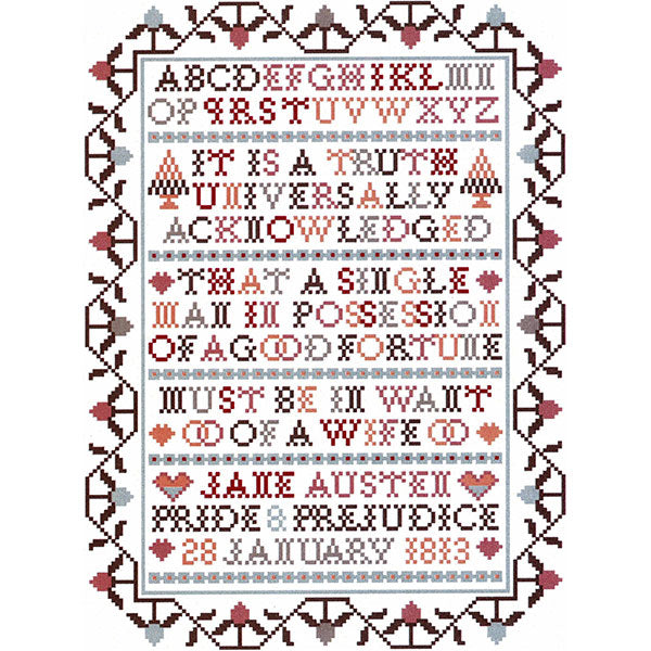 Jane Austen Sampler Cross Stitch Pattern - Truth
