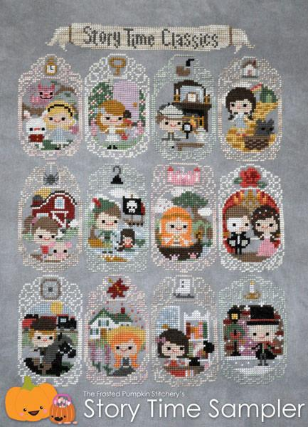 Story Time Sampler Cross Stitch Pattern