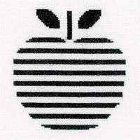 Abstract Apple Cross Stitch Kit