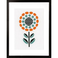 Abstract Round Flower Cross Stitch Kit