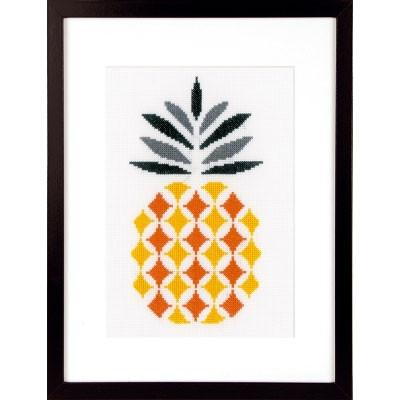 Abstract Pineapple Cross Stitch Kit