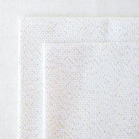 Cream and Gold Metallic Aida Cross Stitch Fabric