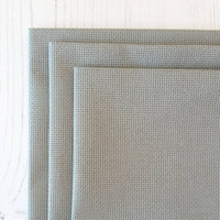 Smokey gray Aida cross stitch fabric embroidery 16 count