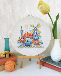 Pretty Little Amsterdam Cross Stitch Pattern