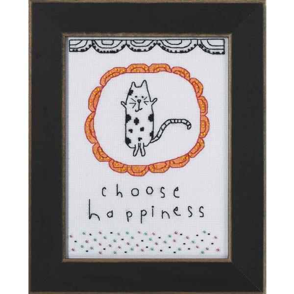 Choose Happiness Cross Stitch Kit
