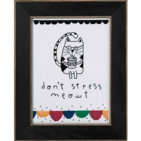 Don't Stress Meowt Cross Stitch Kit