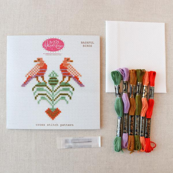 Anna Maria Horner Bashful Birds Cross Stitch Pattern