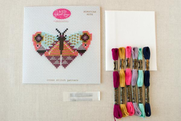Moroccan Moth Cross Stitch Pattern