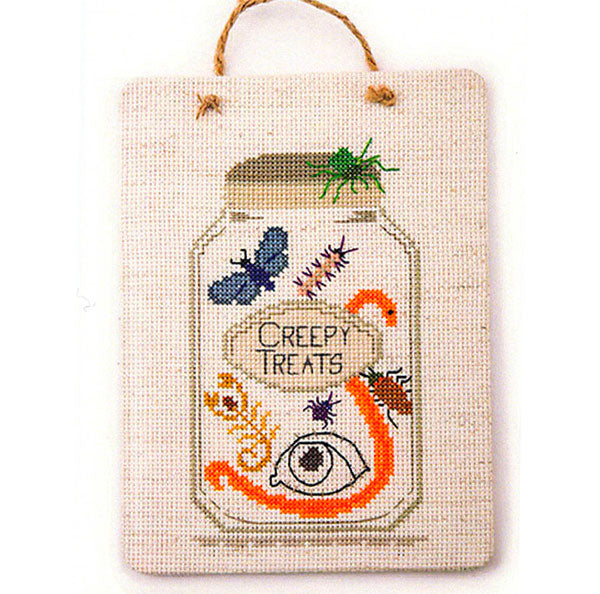 Creepy Treat Jar Cross Stitch Pattern