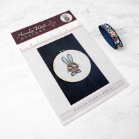 Ribbon Rabbit Girl Cross Stitch Pattern