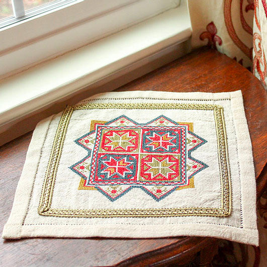 Mediterranean Folk Cross Stitch Kit - Star of Chios