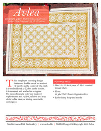 Mediterranean Folk Cross Stitch Kit - Design 230 Table Mat