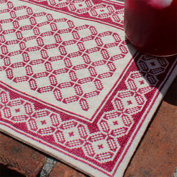 Mediterranean Folk Cross Stitch Kit - Aegean Octagon Table Mat