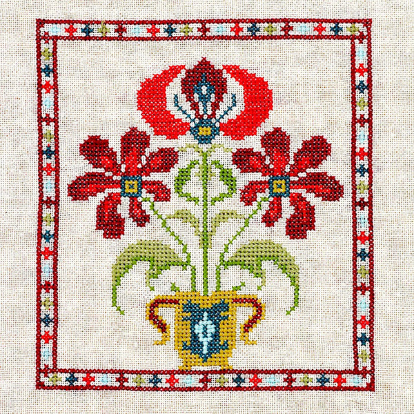Mediterranean Folk Cross Stitch Kit -Grecian Urn #3
