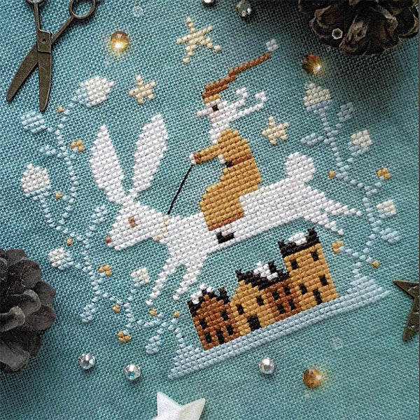 Christmas Hare Cross Stitch Pattern