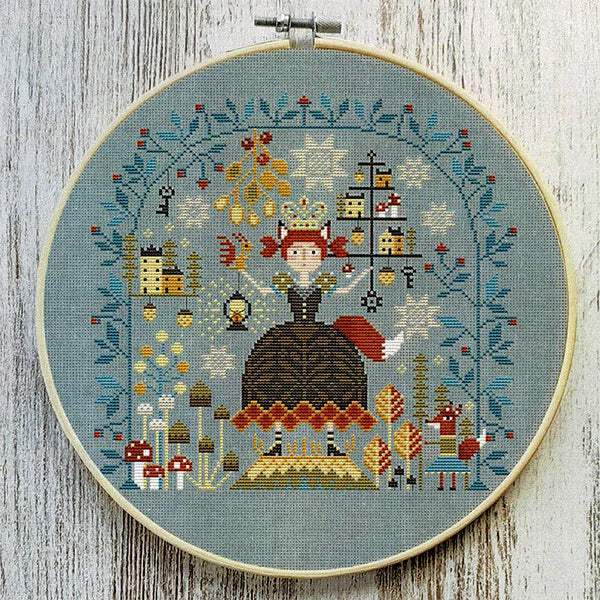 Forest Queen Cross Stitch Pattern