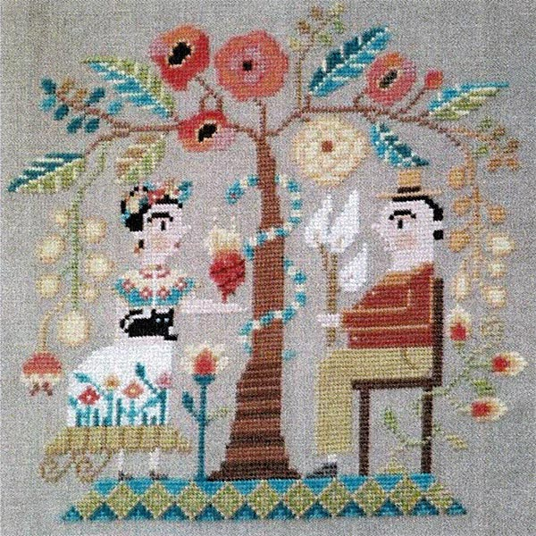 Frida & Diego Cross Stitch Pattern