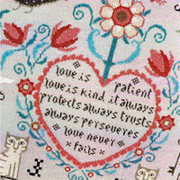 Love Never Fails Cross Stitch Pattern