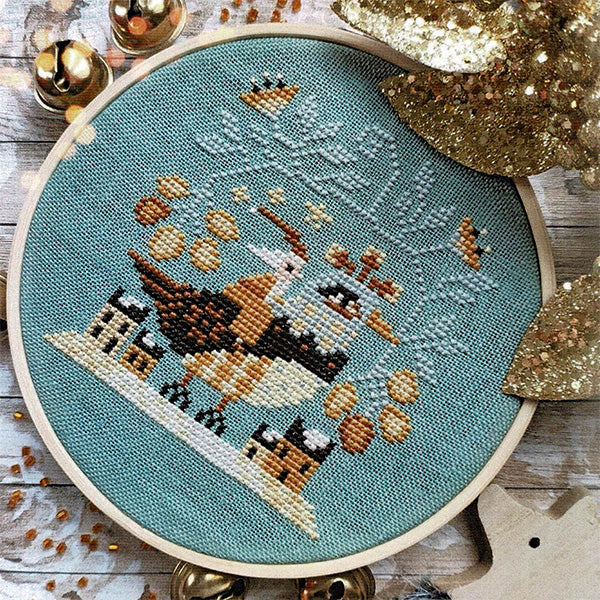 Santa's Flight Cross Stitch Pattern