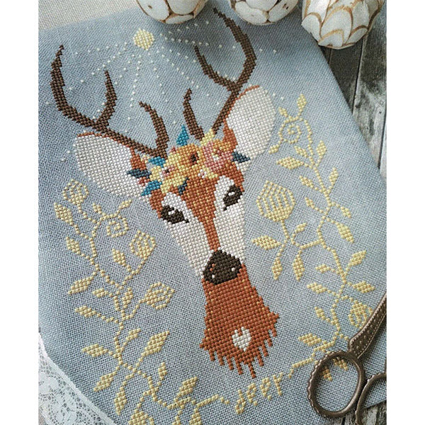 Spring Deer Cross Stitch Pattern