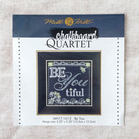 Be You Chalkboard Inspired Cross Stitch Kit