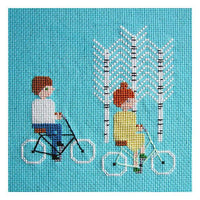 Bike Ride Cross Stitch Pattern