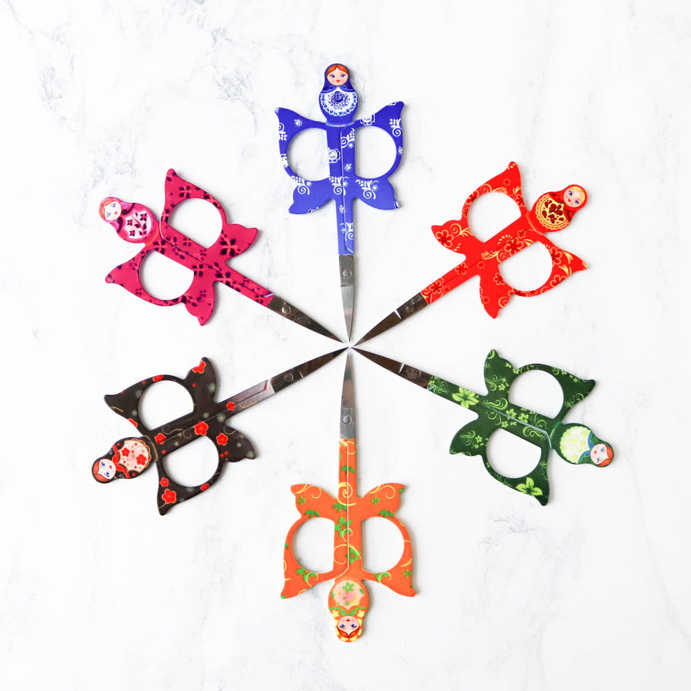 Matryoshka Embroidery Scissors