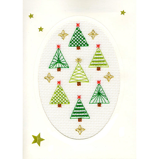 Cross Stitch Greeting Card Kit - Christmas Forest