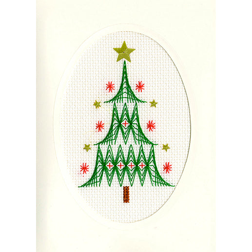 Cross Stitch Greeting Card Kit - Christmas Tree