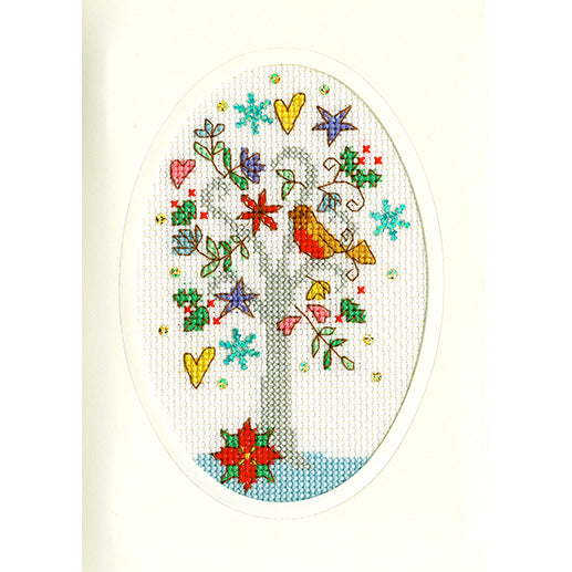 Cross Stitch Greeting Card Kit - Winter Wishes