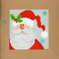 Cross Stitch Greeting Card Kit - Snowy Santa