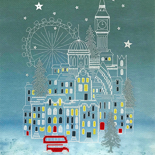 Snowy London Cross Stitch Kit