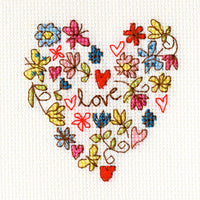 Cross Stitch Greeting Card Kit - Sweet Heart