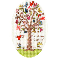 Cross Stitch Greeting Card Kit - Sweet Tree