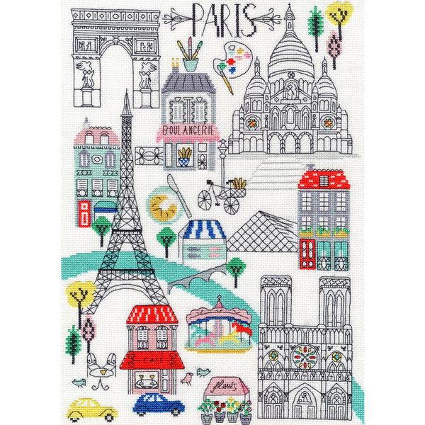 Love Paris Cross Stitch Kit