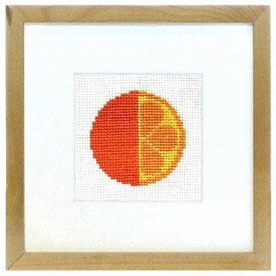 Pixikit Mini Cross Stitch Kit - Graphic Orange