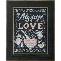 Always Add Love Chalkboard Inspired Cross Stitch Kit
