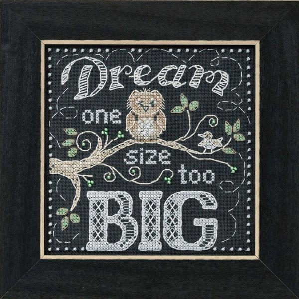 Dream Big Chalkboard Inspired Cross Stitch Kit