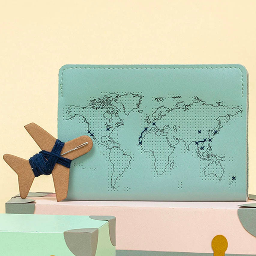 Stitch the World Passport Cover