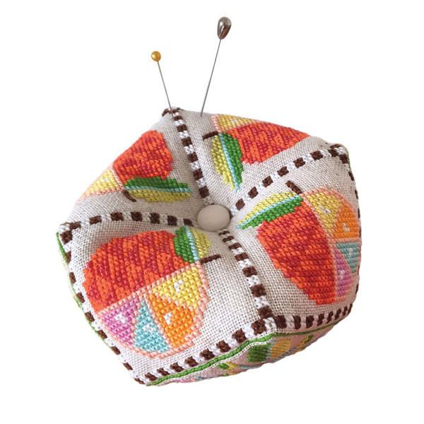 Citrus Biscornu Pincushion Cross Stitch Pattern
