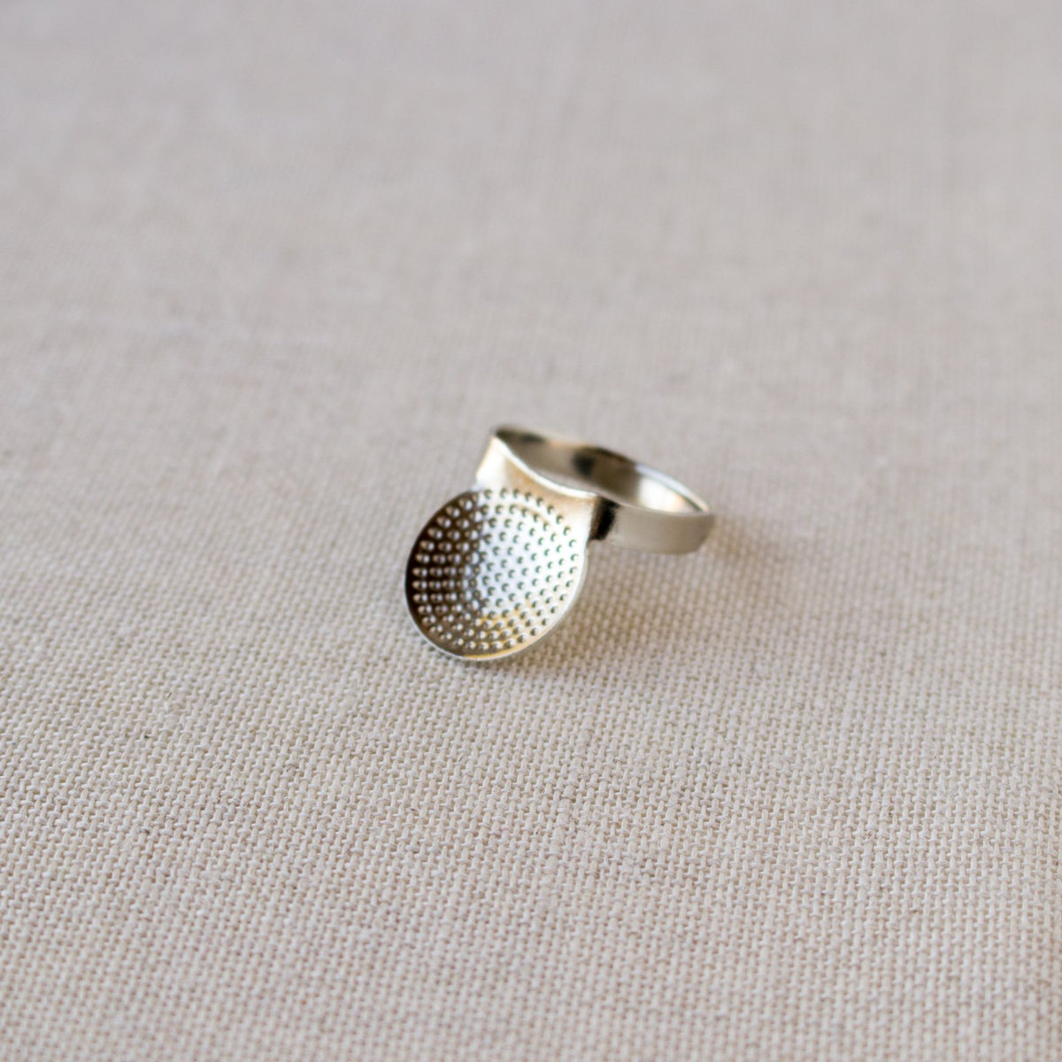 Adjustable Metal Palm Thimble for Sashiko